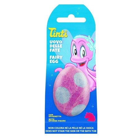 TINTI FAIRY EGG - sparkling egg with a surprise (fairy-tale character), pink water